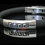 SLB-0075 - Men's 8mm Greek Key Bangle
