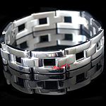 SLB-0165 - Men's 12mm Gate Link Stainless Steel Bracelet
