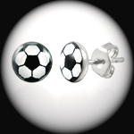 LEB-037 - Men's FOOTBALL SOCCER Stainless Steel Stud Earring