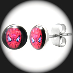 LEB-087 - Men's SPIDERMAN Stainless Steel Stud Earring